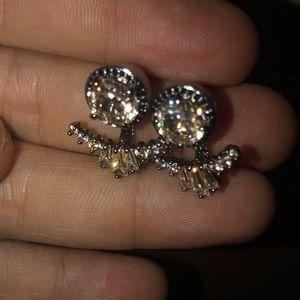 NWOT Henri Bendel Crystal Earrings and Jacket